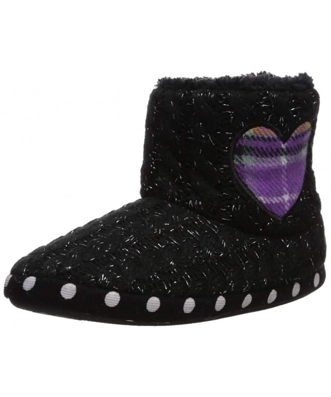 Dearfoams Sweater Bootie Heart Slipper