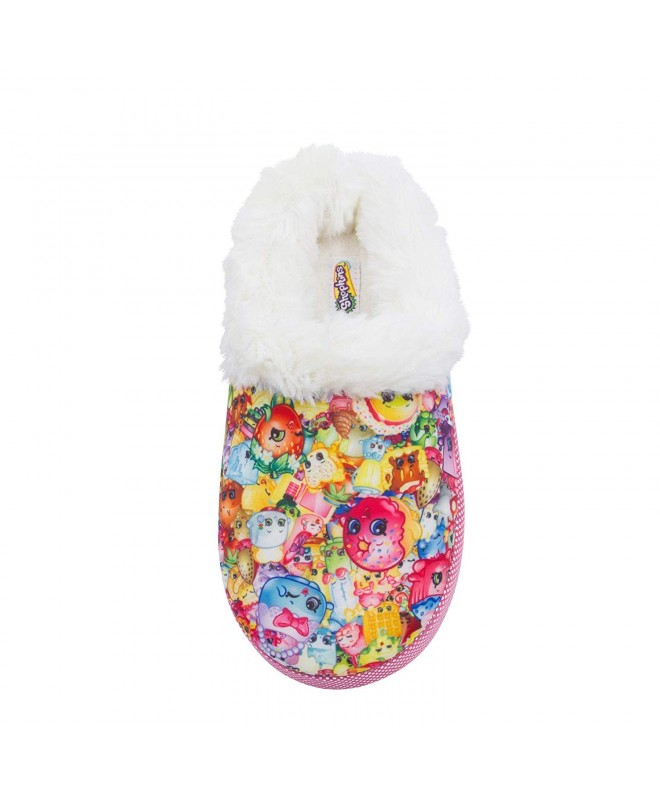 Shopkins Toddler Cushioned Slippers Collar