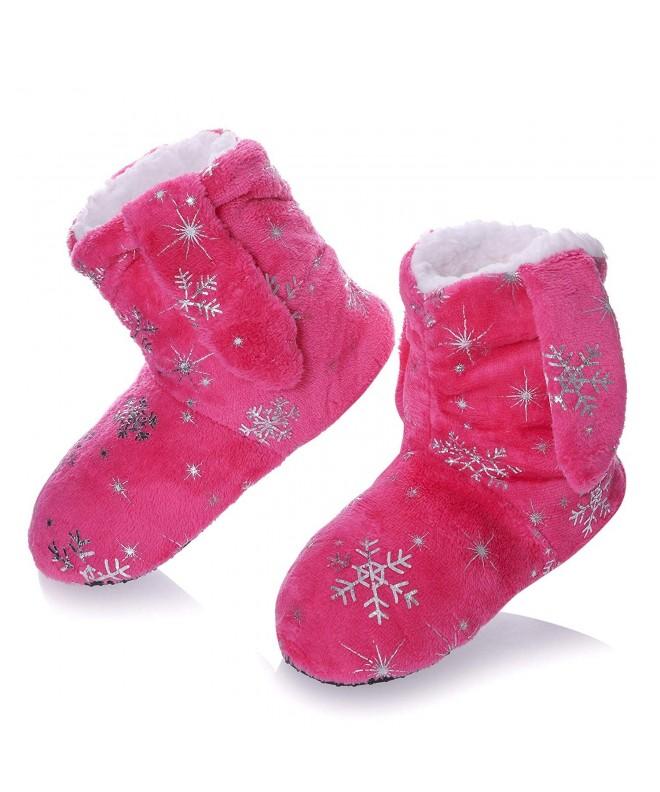 RONGBLUE Christmas Snowflake Slipper Non Slip