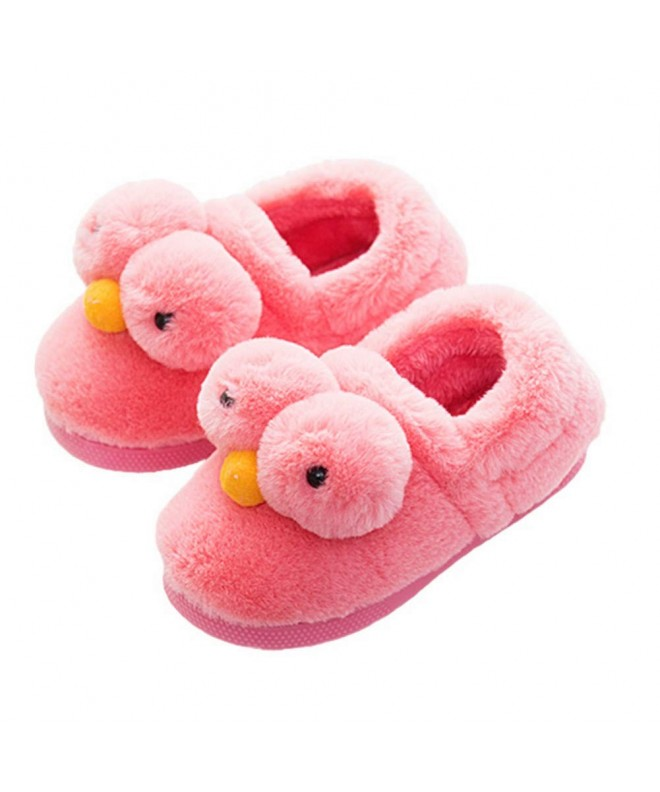 Toddler Boys Girls Slippers Fluffy Little Kids House Slippers Warm Fur Cute  Animal Home Slippers - Watermelon Red - CH18I3MX27T