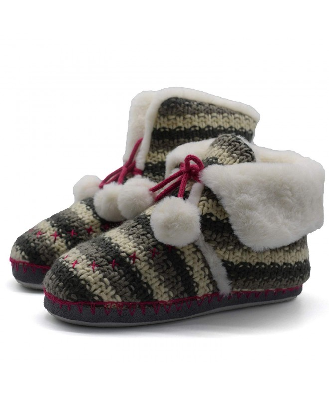 Womens Woolen Slipper Memory Booties