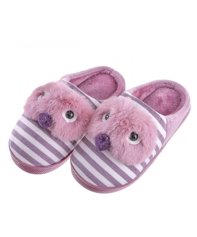 SCOWAY Toddler Slippers Cartoon Non Slip