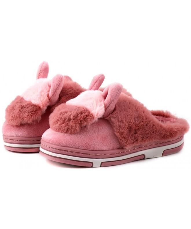 LONSOEN Girls Memory Fleece Slippers