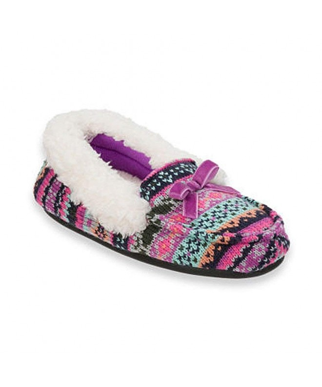 Dearfoams Sweater Mocassin Memory Slippers