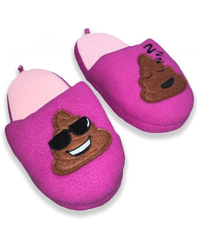 Footwear Girls Emoji Smiley Slipper