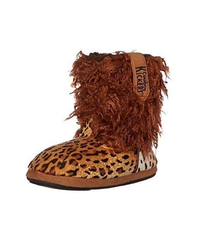 Cowboy Kickers Cheetah Slippers Medium