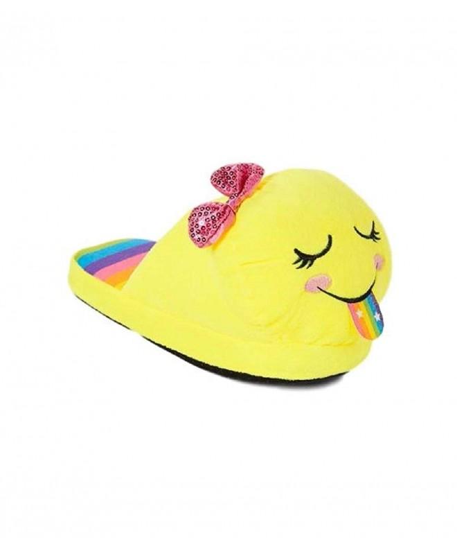 Emoji Girls Slippers Smiley Rainbow