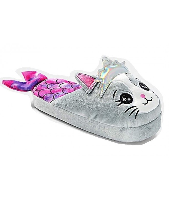 Justice Mermaid Meowmaid Slippers Size
