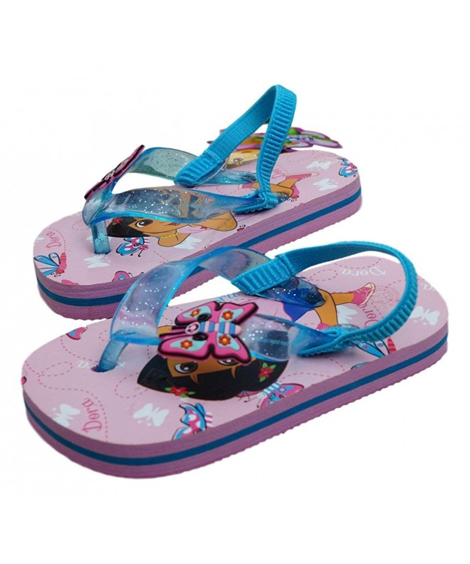 Little Girls Dora Flip Flops