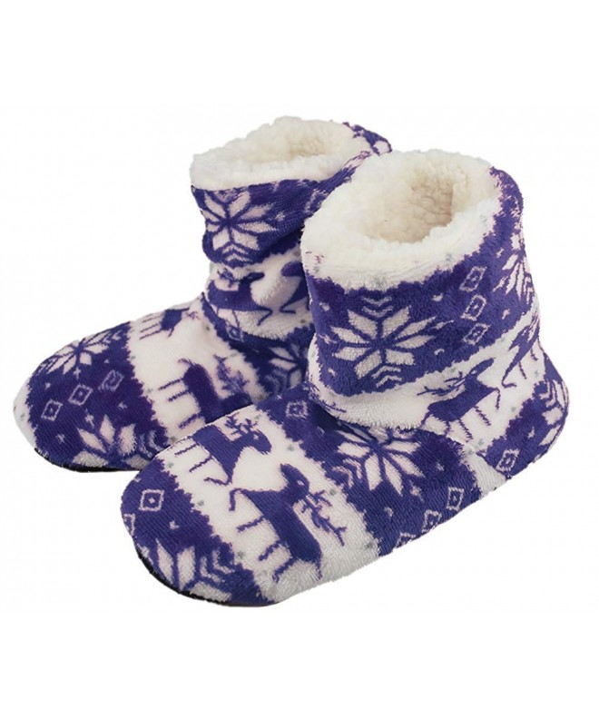 Girls Lining Slippers Anti Slip Booties