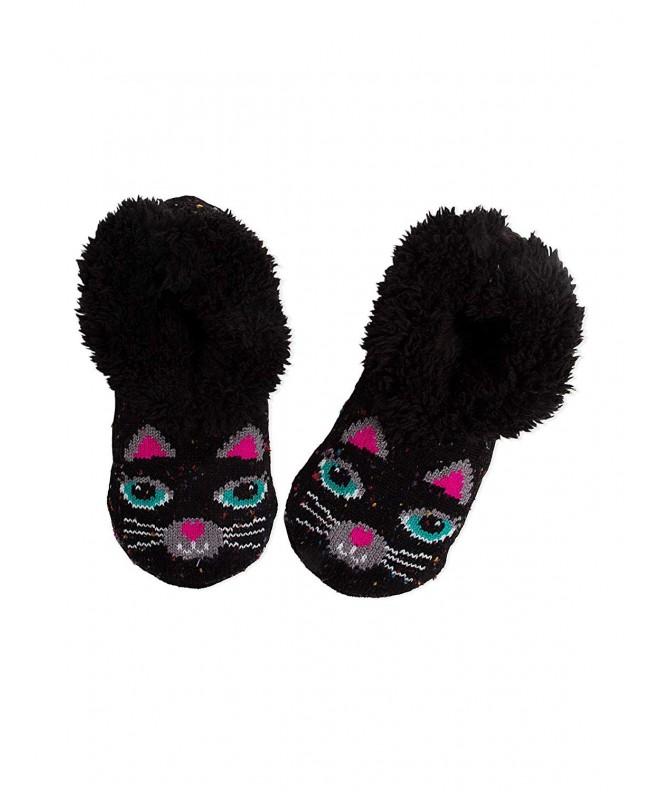 Black Girls Slipper Socks Medium