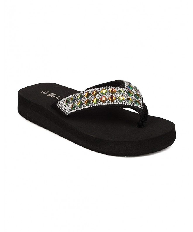 Nylon Rhinestone Bedazzled Sandal Little