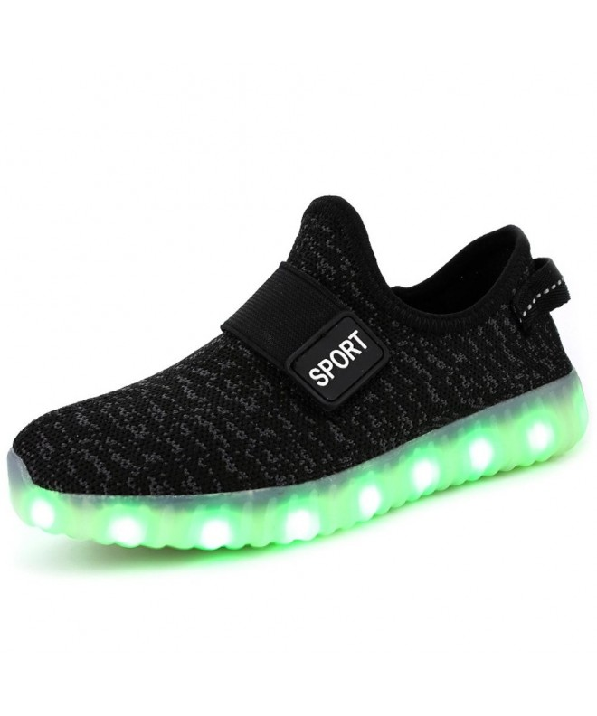 FASHOE Girls Breathable Flashing Sneakers