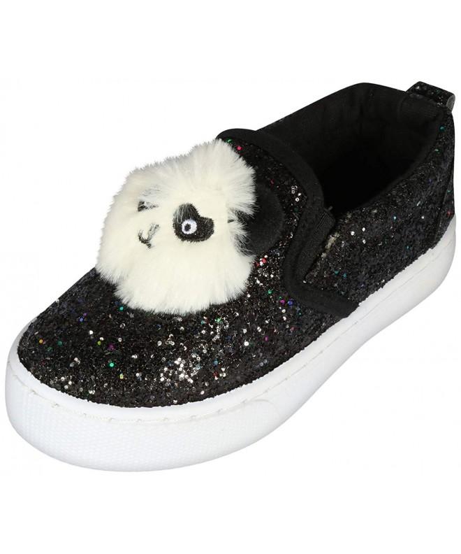 dELiAs Toddler Glitter Sneakers Pom Pom