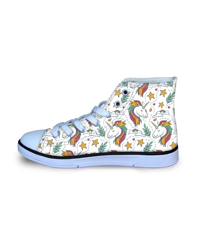 JUSICA Unicorn High Top Canvas Little