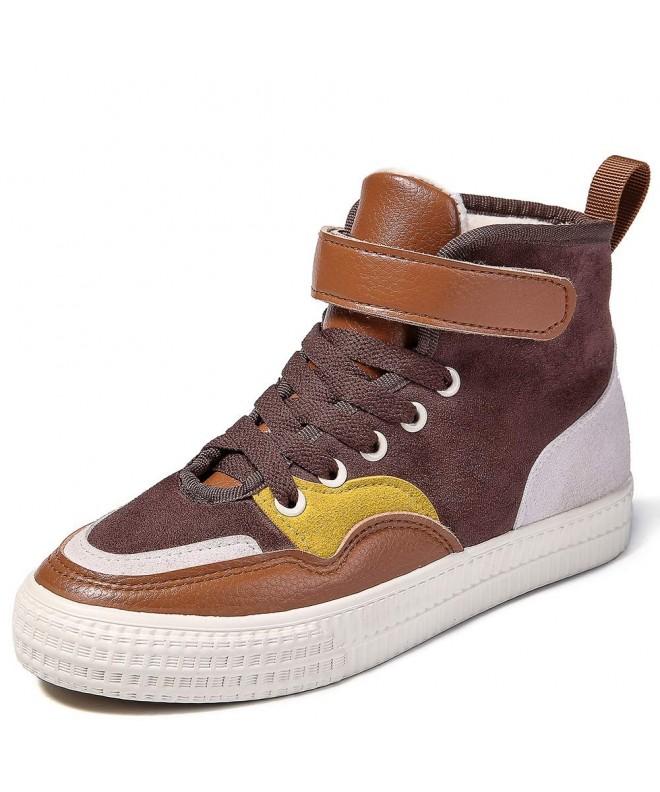 Keruishu Comfortable Strap Leather Sneaker