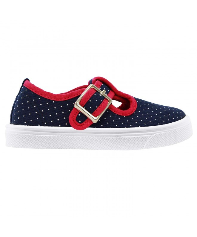 Oomphies Olivia T Strap Navy Shoe
