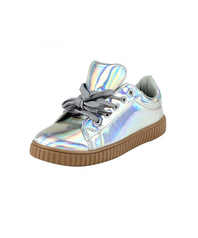 Yoki Fashion Metallic Leather Sneakers