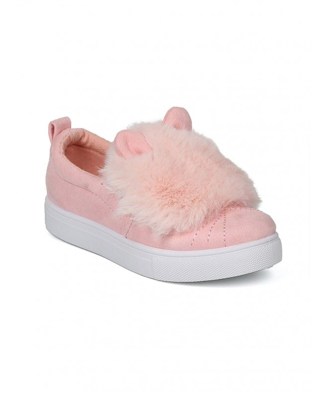 Girls Faux Suede Animal Sneaker