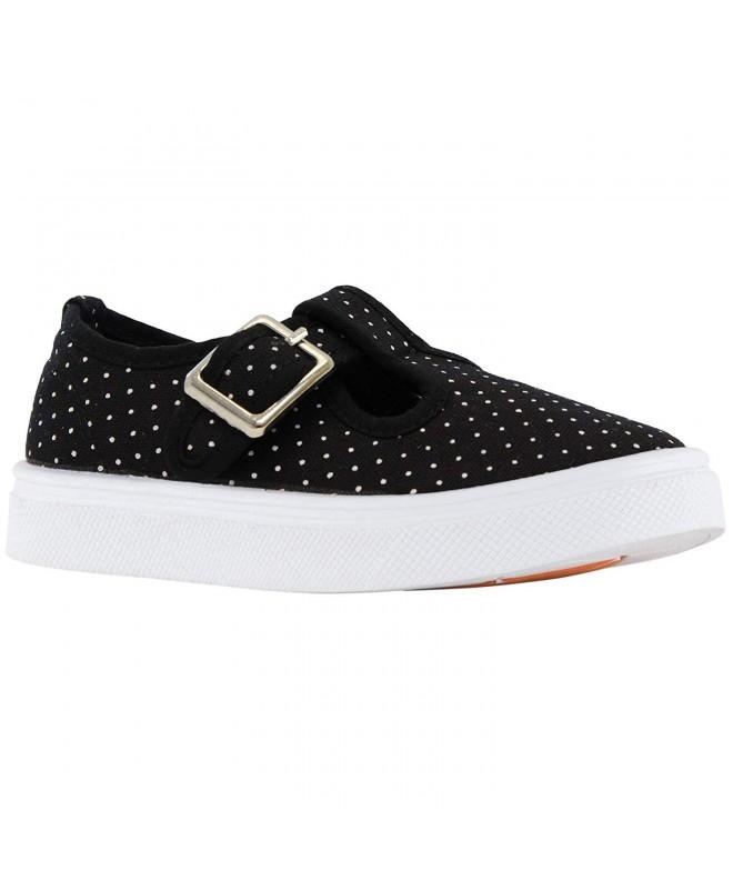 Oomphies Olivia T Strap Black Shoe