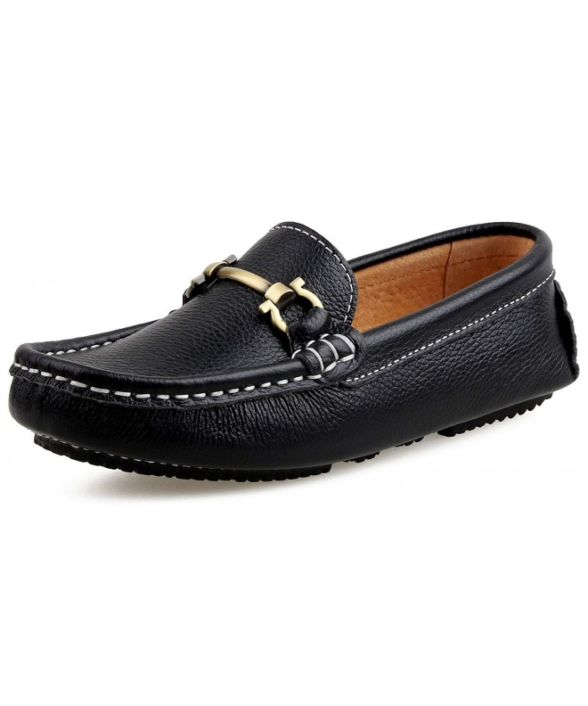 SKOEX Boys Leather Loafers Shoes