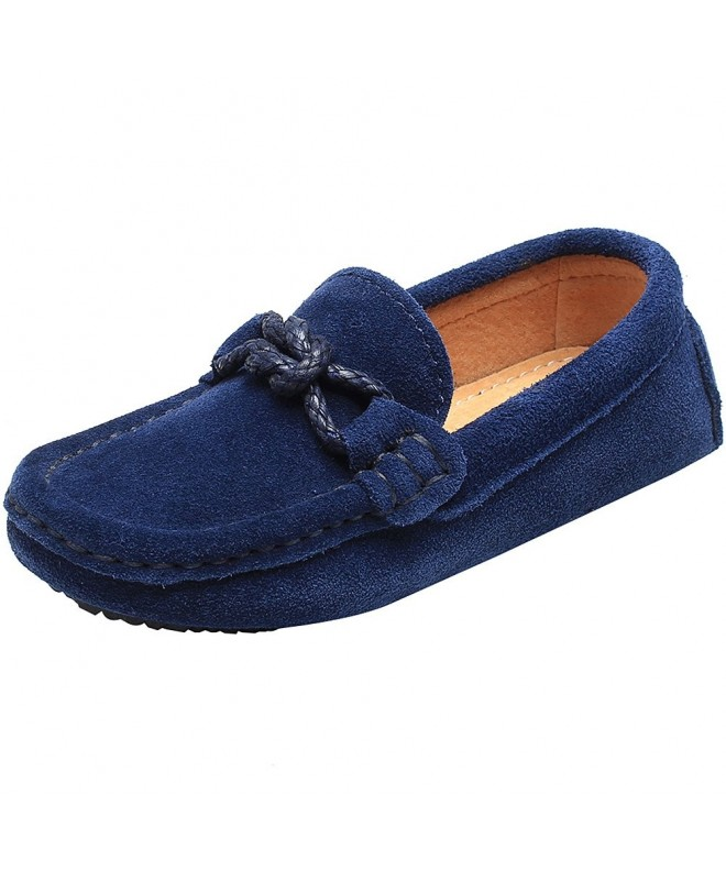 Shenn Childrens School Uniform Leather Loafers