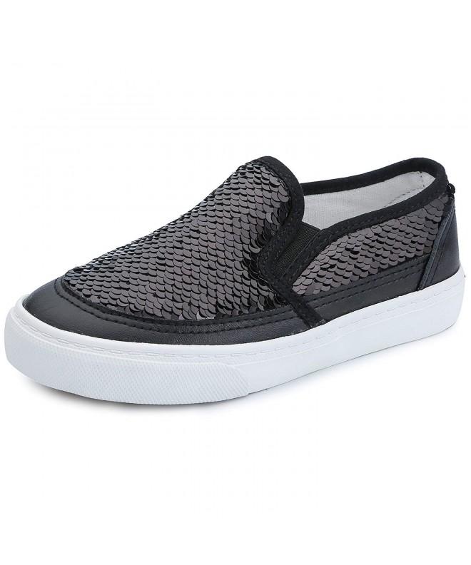 VECJUNIA Sequins Loafers Sneakers Toddler