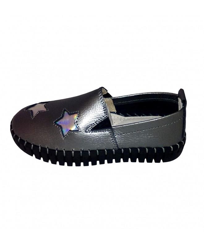 Bernie Mev Gunmetal Silver Loafers