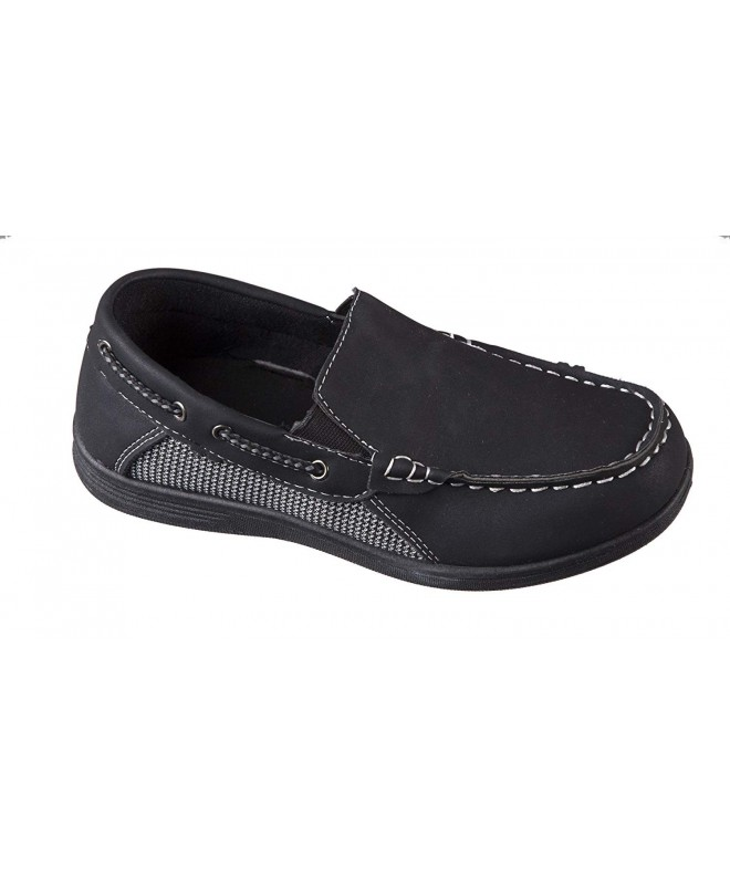 Josmo Black Square Loafer Stitching