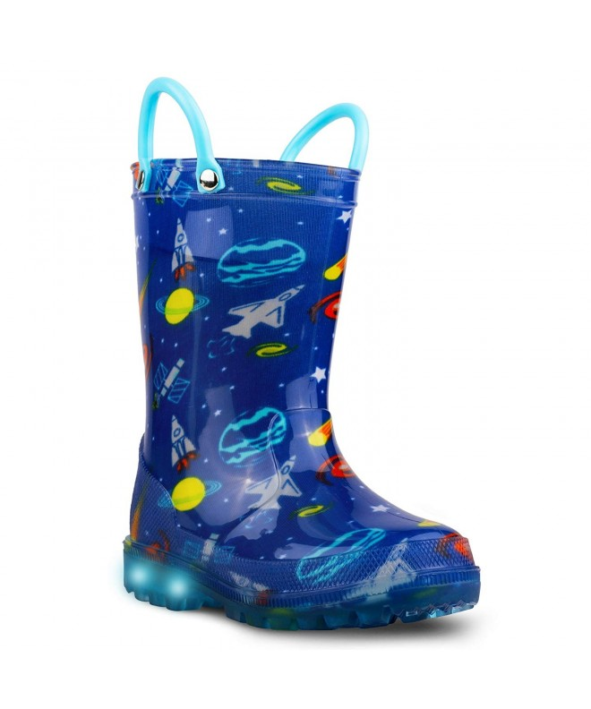 lilly Girls Light Up Rubber Boots