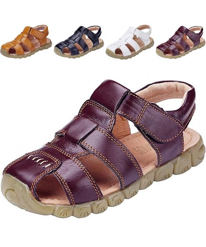 DADAWEN Leather Outdoor Sandals Toddler