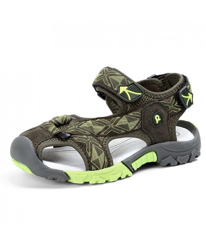 JACKSHIBO Breathable Athletic Closed Toe Sandals