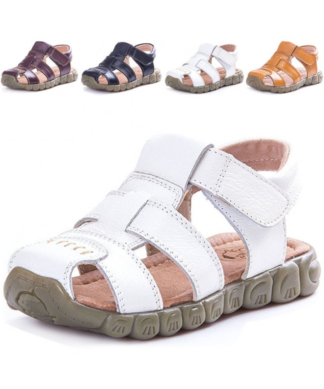 LONSOEN Leather Outdoor Sandals Fisherman